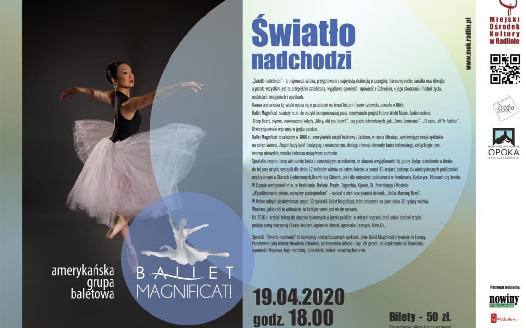 Zaproszenie na balet wRadlinie