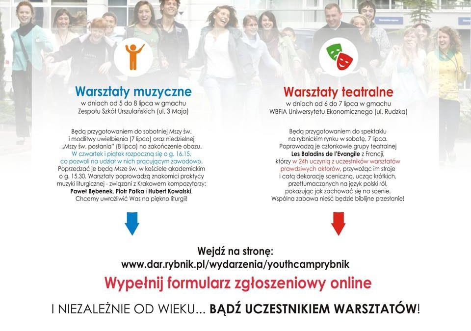 Youth Camp – warsztaty muzyczne iteatralne