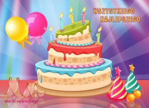 kartki z okazji dnia kolorowy tort urodzinowy 1229[1]